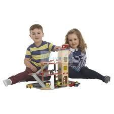 Fa játék garázs gyerekeknek +fa autó +fa heli+lift