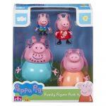 Peppa Malac figura készlet Peppa Pig, Zsoli, Papamalac, Mamamalac