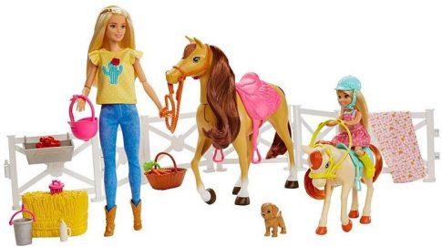 Mattel Barbie Játék készlet lovakkal FXH15