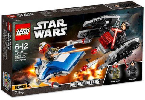 LEGO Star Wars - A-szárnyú vs. TIE Silencer Microfighters 75196