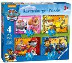 Ravensburger Mancs őrjárat  4 az 1-ben puzzle kirakó 12,16,20,24 db-os  070336