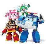 Robocar Poli átalakítható figura szett 4db (Poli, Roy, Heli, Amber)