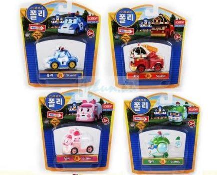 Robocar Poli figura szett 4db (Poli, Roy, Heli, Amber)