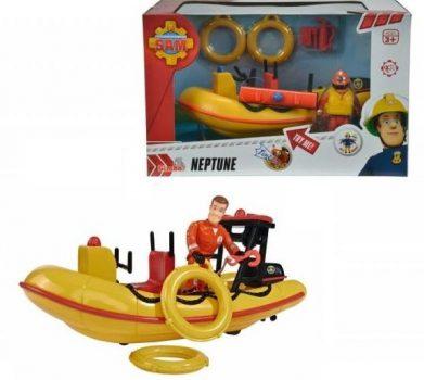 Simba Toys Sam, a tűzoltó járművek - Neptune motorcsónak figurával