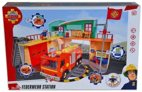 Simba Toys Sam, a tűzoltó tűzoltóállomás figurával