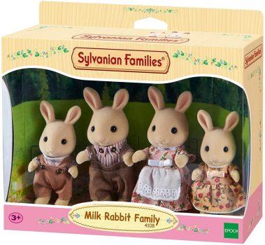 SYLVANIAN FAMILIES Fehér nyuszi család Figura szett 4108 Milk Rabbit Family